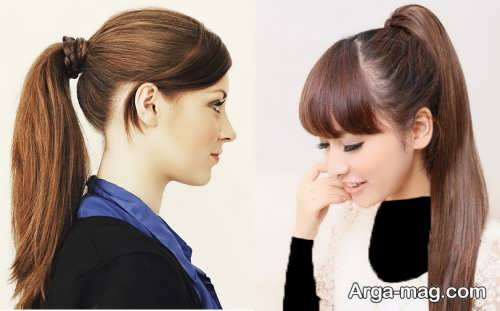 مدل مو زنانه و دخترانه دم اسبی