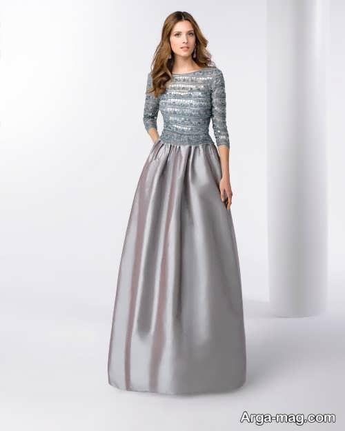 مدل لباس مجلسی خاکستری
