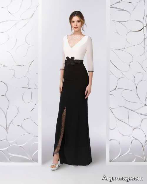 مدل لباس مجلسی مشکی و سفید