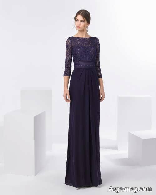 مدل لباس مجلسی زیبا و آستین دار