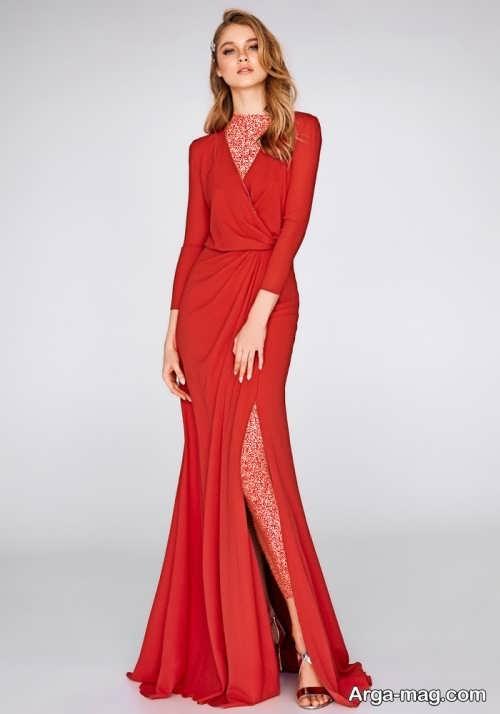 لباس مجلسی قرمز زنانه