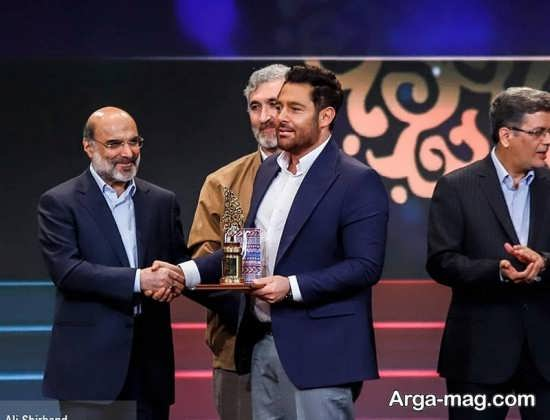 محمدرضا گلزار در اختتامیه جشنواره جام جم