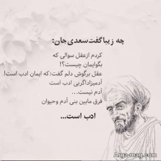 تصویر نوشته های سعدی زیبا