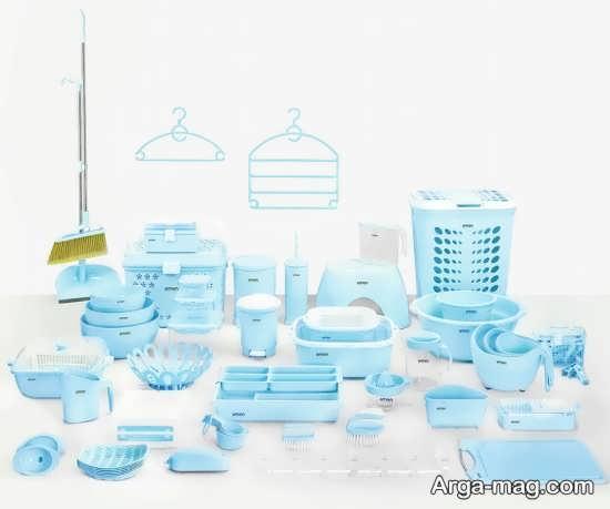 سرویس پلاستیک آبی برای عروس