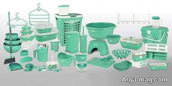 سرویس پلاستیک سبز برای عروس