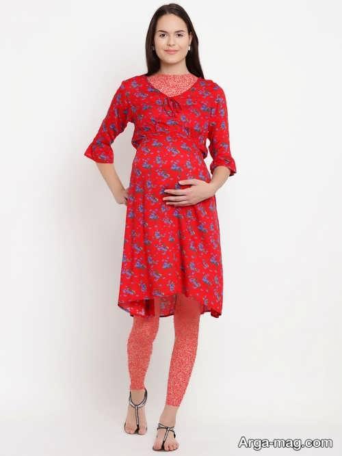 مدل لباس بارداری طرح دار