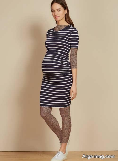 مدل لباس طرح دار بارداری