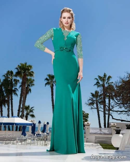 مدل لباس سبز بلند