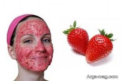 ماسک توت فرنگی برای سفت کننده پوست صورت