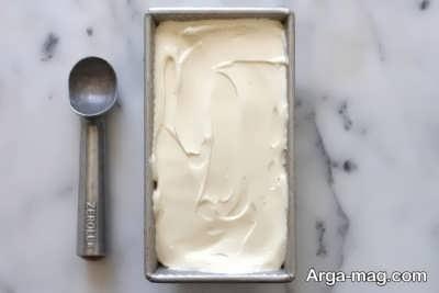 بستنی وانیلی خوش طعم
