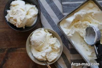 بستنی وانیلی