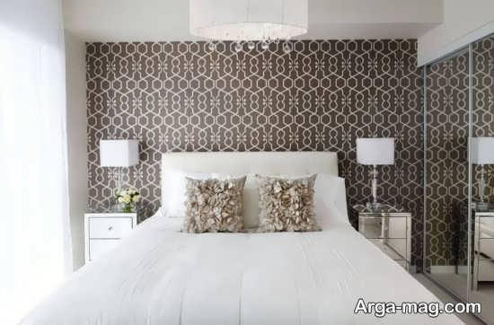 کاغذ دیواری رنگی برای اتاق خواب