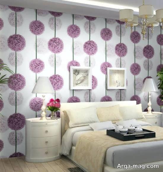کاغذ دیواری برای دیزاین اتاق خواب