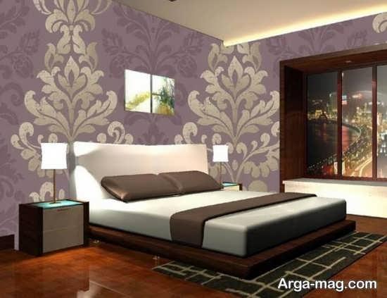 کاغذ دیواری زیبای اتاق خواب