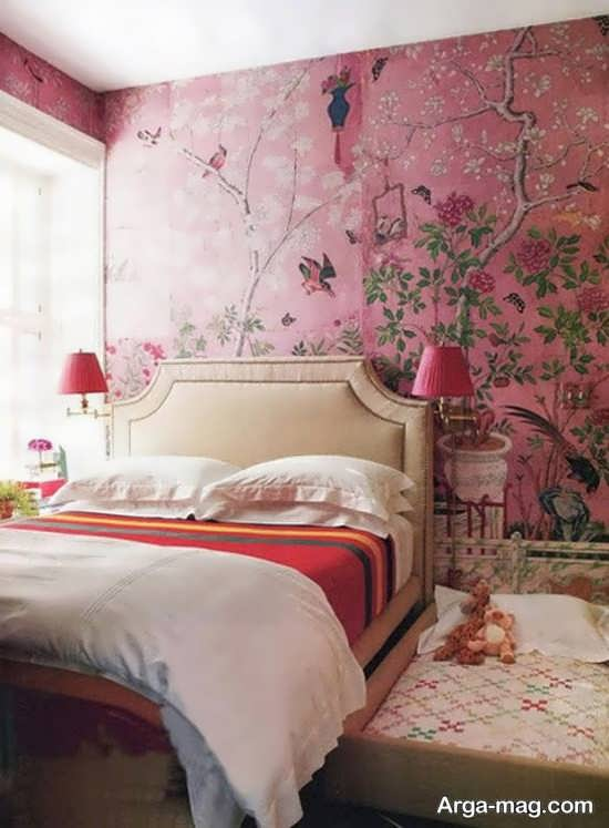 کاغذ دیواری متفاوت برای اتاق خواب