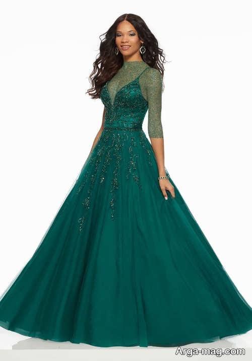 مدل لباس مجلسی سبز زنانه