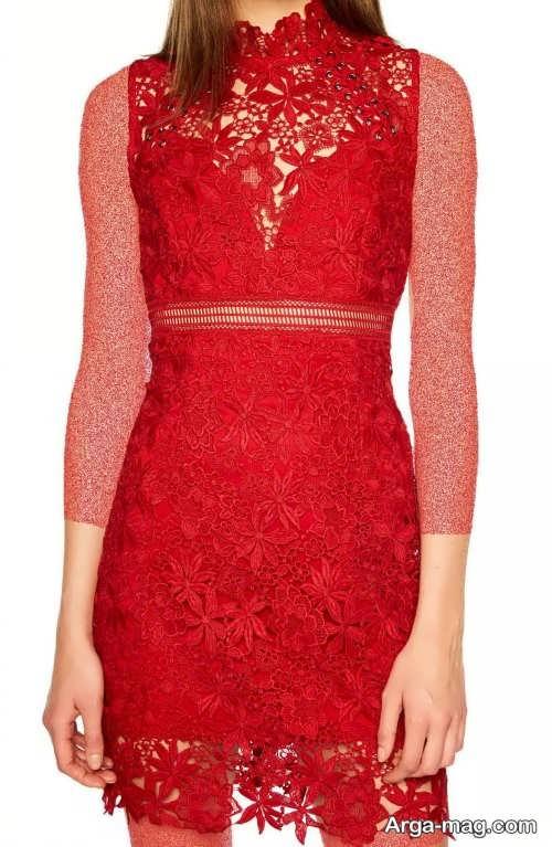 مدل پیراهن مجلسی قرمز و زیبا