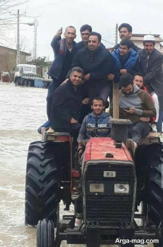 عادل فردوسی پور در مناطق سیل زده