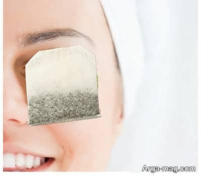 درمان پف زیر چشم با چای سیاه