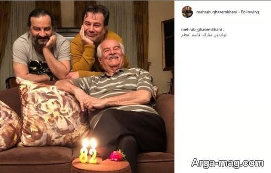 برادران قاسم خانی در جشن تولد پدر