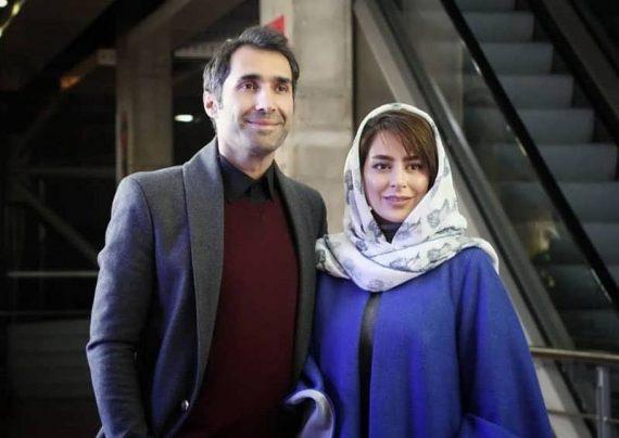 ست قرمز هادی کاظمی و همسرش