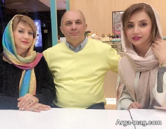 شبنم قلی خانی در کنار برادر و خواهرش