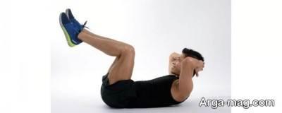 حرکت کرانچ برای ورزش در خانه