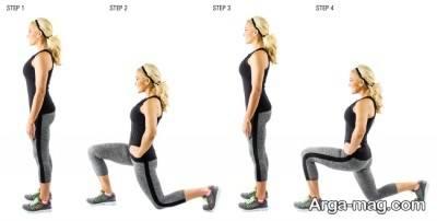 استفاده از حرکت لانگز به جلو برای ورزش در خانه