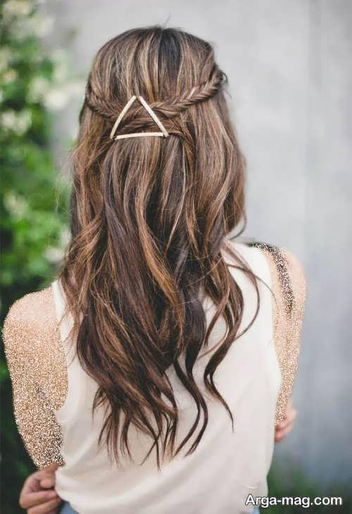 آرایش موی زیبا و باز