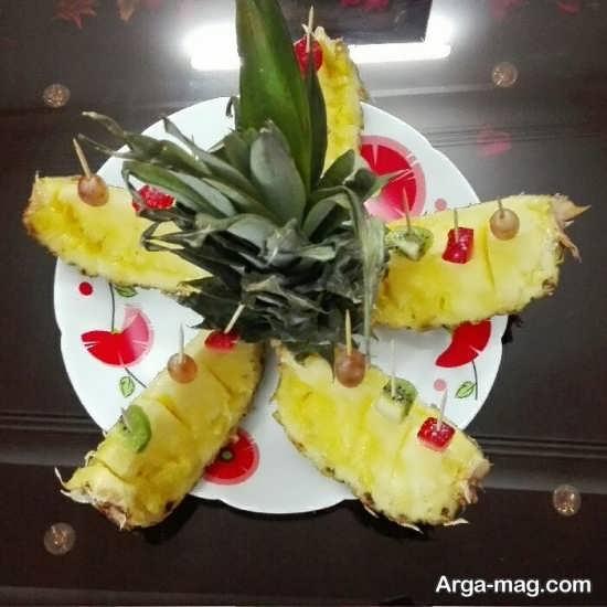 تزئینات ساده آناناس