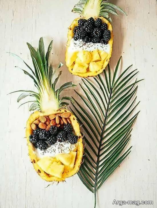 ایده های شیک برای تزئین آناناس