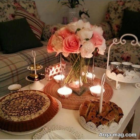 تزیین میز به مناسبت سالگرد ازدواج