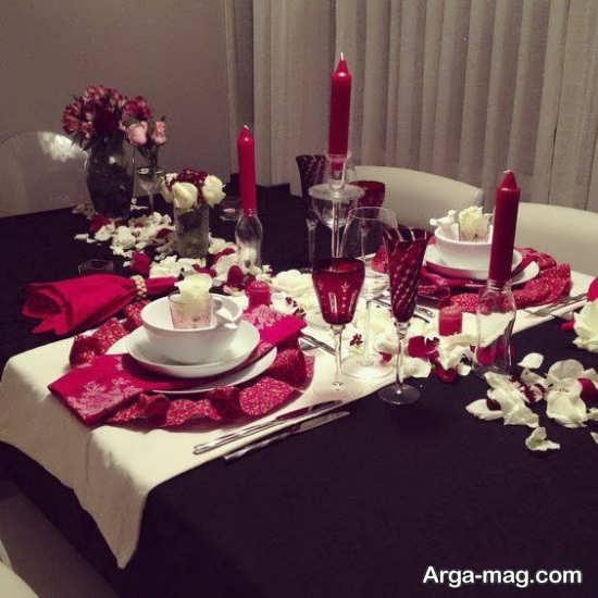 تزیین میز سالگرد ازدواج