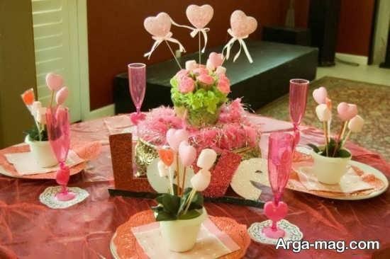 تزیین زیبای میز سالگرد ازدواج