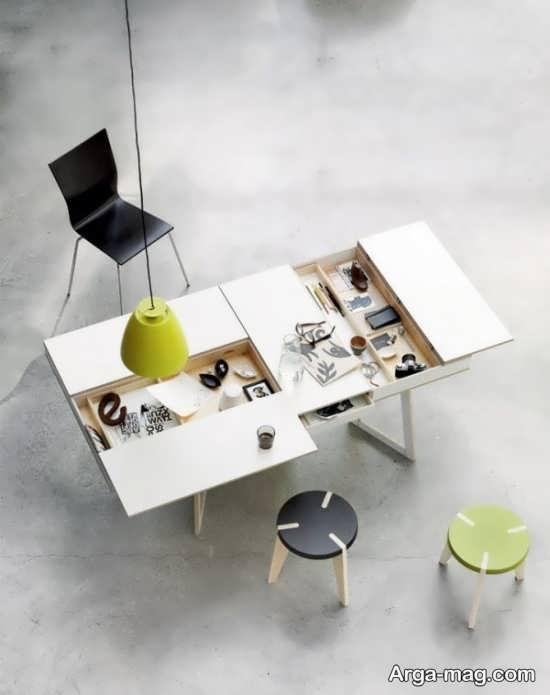 میز کار با فضای مخفی