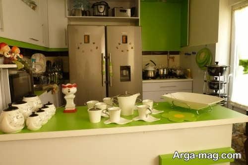 دکوراسیون سبز آشپزخانه