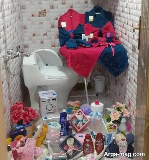 تزیین ساده سرویس بهداشتی عروس