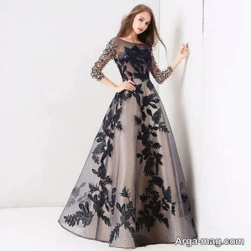 لباس شب طرح دار