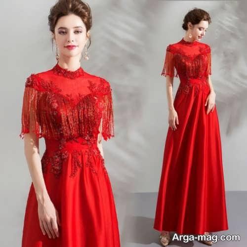 لباس شب قرمز و بلند