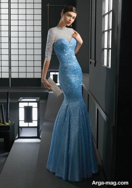 لباس شب آبی روشن