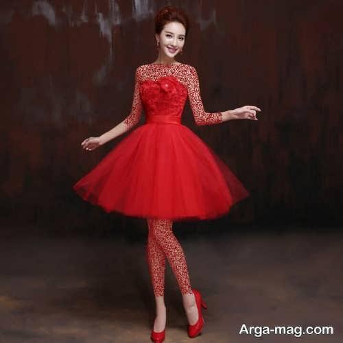 لباس شب دخترانه قرمز