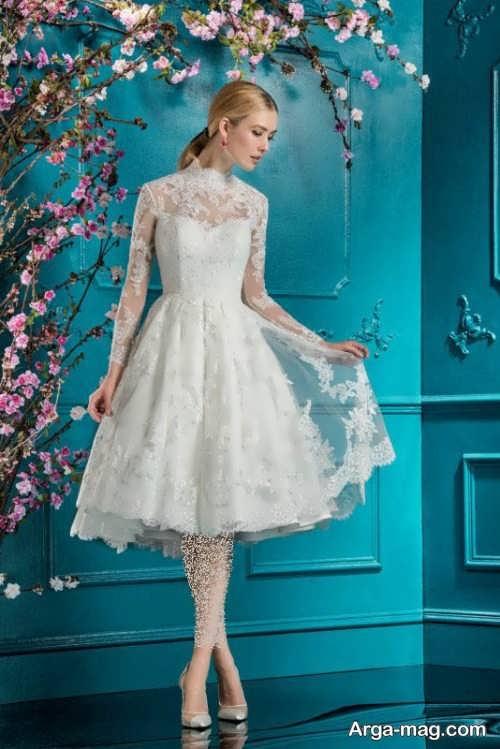مدل پیراهن عروس کوتاه و شیک