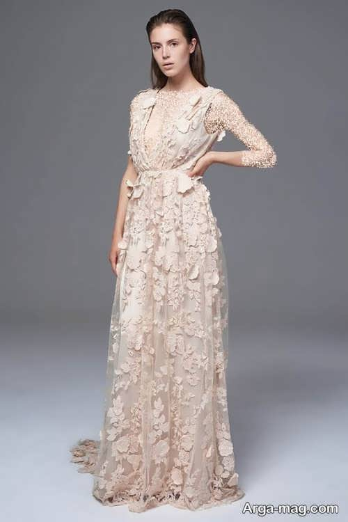 مدل لباس عروس گل برجسته