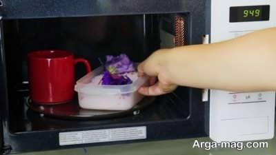خشک کردن گل در مایکروفر
