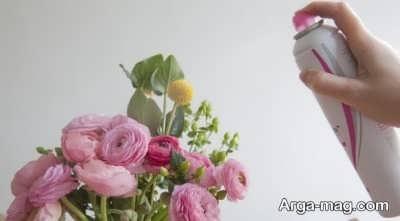 خشک سازی گل با اسپری