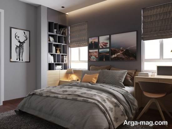 اتاق خواب خاکستری