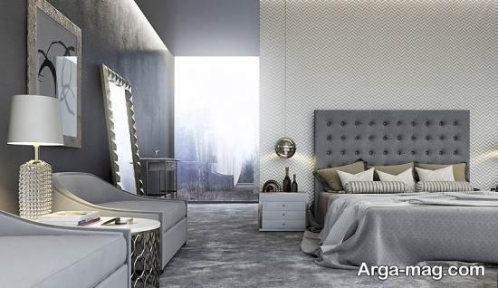 زیبایی اتاق با رنگ خاکستری