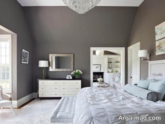 دکوراسیون اتاق خواب خاکستری