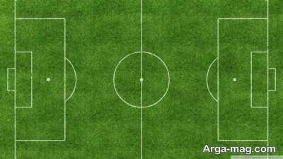 شکل زمین فوتبال