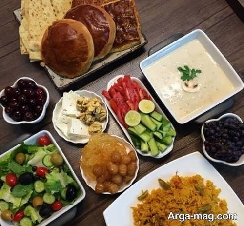 تزیین میز افطار